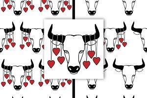 Bull and Hearts Set