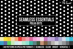 40 Seamless Polka Dot Set