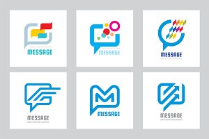 Message Speech Bubbles - Vector Logo