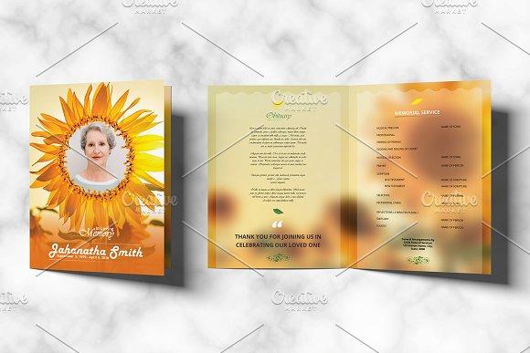 funeral program template v01 brochures