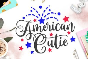 American Cutie SVG DXF PNG EPS
