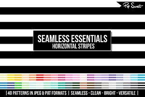 40 Seamless Horizontal Stripe Set