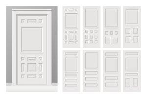 Painted wooden cottage doors set