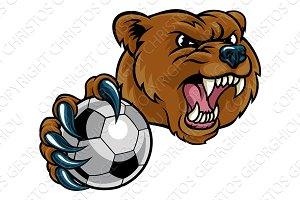 Bear Holding Soccer Ball