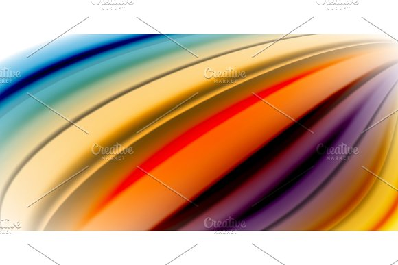 Gel jelly fluid flowing liquid rainbow style colours, wave abstract background, modern minimal colorful design