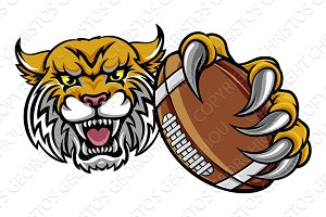 Wildcat Holding American Football Ball