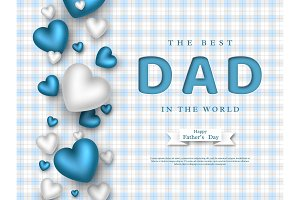 Fathers day greeting card.