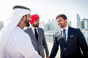 Businessmen meeting