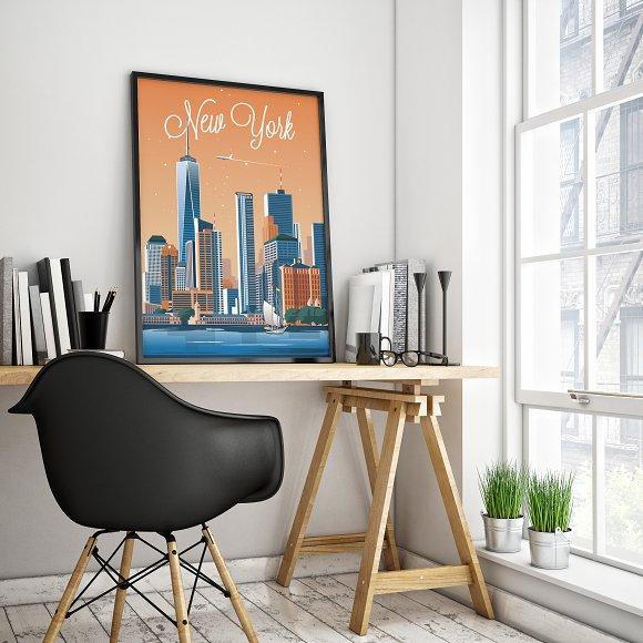 Traveler Poster / New York City in Illustrations