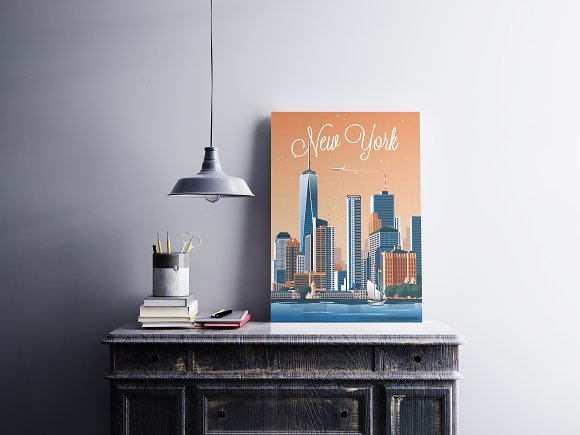 Traveler Poster / New York City in Illustrations - product preview 1