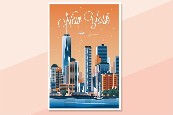 Traveler Poster / New York City in Illustrations - product preview 2