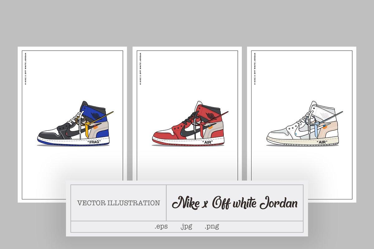 dc86c810d26 Nike x Off white Jordan ~ Illustrations ~ Creative Market