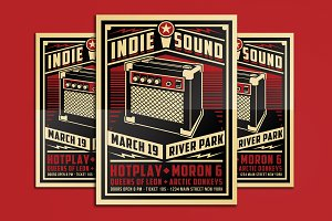 Indie Sound Flyer Poster