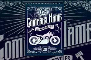 Custom Motorcycle Poster Flyer