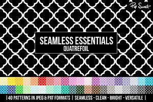 40 Seamless Quatrefoil Set