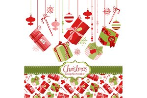 Christmas gift boxes, presents