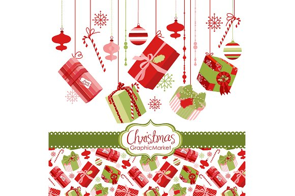 Christmas gift boxes, presents ~ Illustrations ~ Creative Market