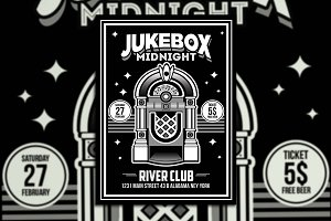 Jukebox Midnight Poster Flyer