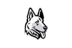 Alsatian Dog Mascot