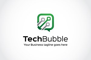 Tech Bubble Logo Template