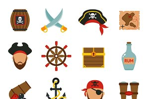 Pirate accessories icons
