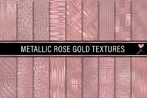 Metallic Rose Gold Textures