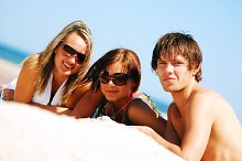 Young friends enjoying summer time