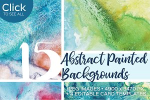 15 Abstract Painted Backgrounds