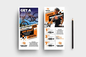 Cycling Shop DL Card Template