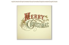 Christmas cards vintage calligraphy
