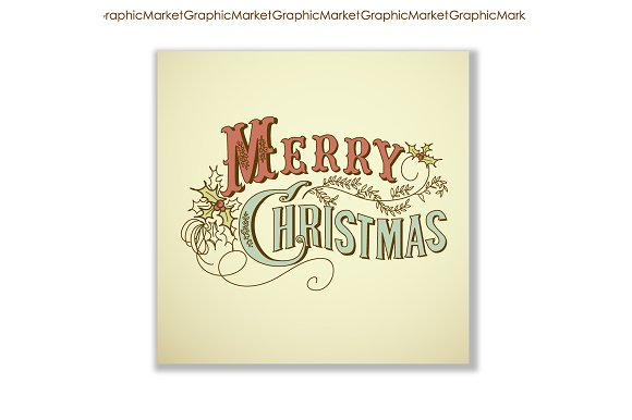 christmas cards vintage calligraphy illustrations creative market