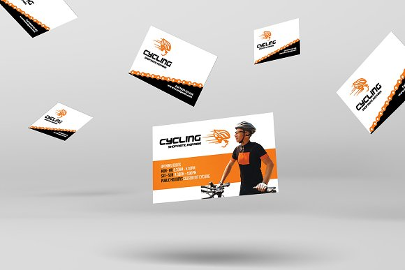 Cycling shop business card template business card templates cycling shop business card template business card templates creative market colourmoves