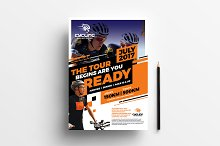 A4 Cycling Shop Poster Template