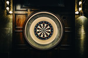 English style dart board