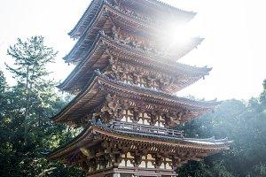 Japanese landmarks in Kyoto