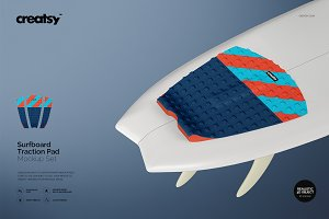 Surfboard Traction Pad Mockup Set