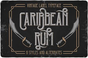 Caribbean Rum Font (Limited Offer)