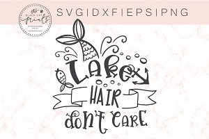 Lake hair Don't care SVG DXF PNG EPS