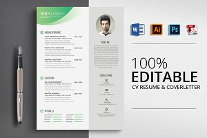 Professional CV Resume Word