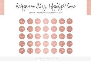 Rose Gold Instagram Highlight Covers