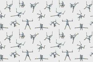 Seamless pattern of Ninja