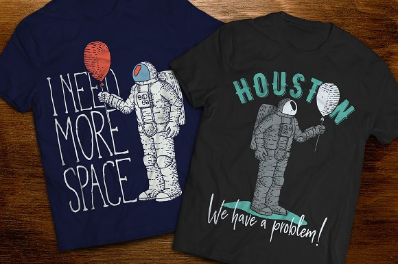 Astronaut t-shirts and posters