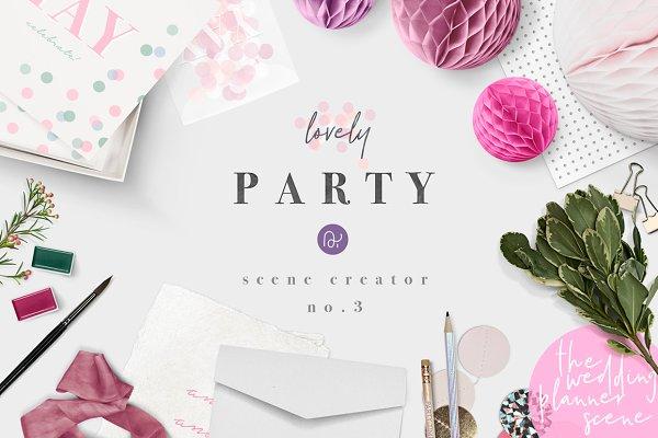 wedding party & confetti stationery