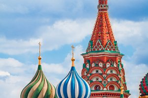 St. Basil's Cathedral in Moscow, Rus