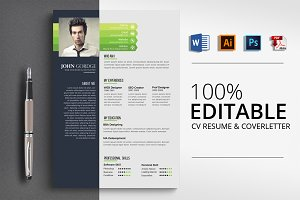 Creative Job CV Resume Word