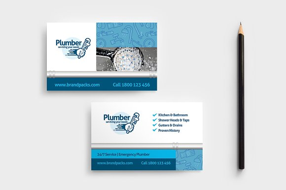 Plumber Business Card Template Business Card Templates Creative