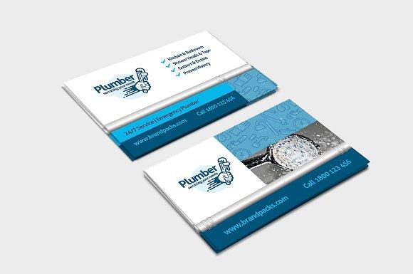 Plumber business card template business card templates creative plumber business card template business card templates creative market colourmoves