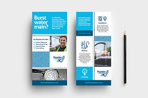 Plumbing Service DL Card Template