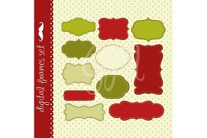 33 Christmas Digital Frames clip art