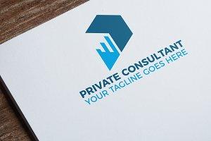 Letter P | Private Consultant Logo